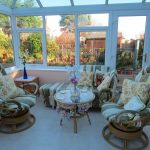 Image of seating in the conservatory at Thie Shey
